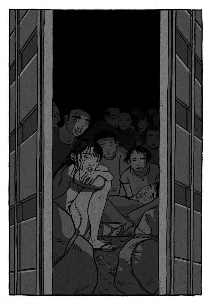 Contenedor del puerto lleno de inmigrantes ilegales provenientes de China.