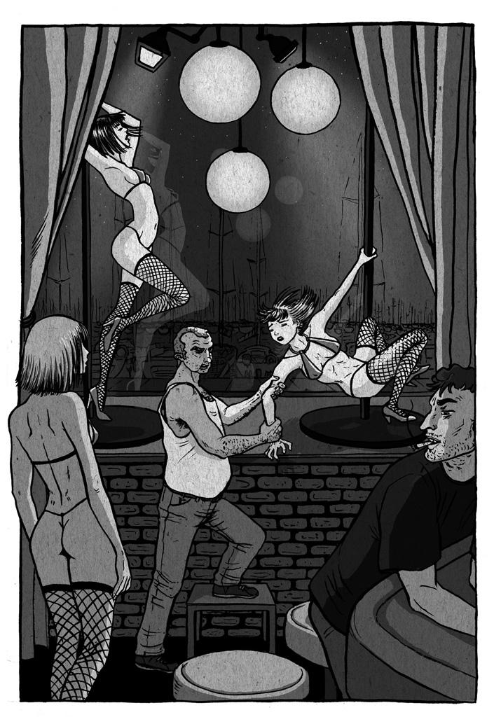 Bailarinas en un club son maltratadas por el dueño.