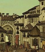 Vista de una ciudad en la época de Al-Ándalus