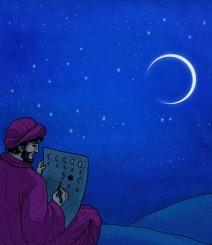 Hombre estudiando el cielo
