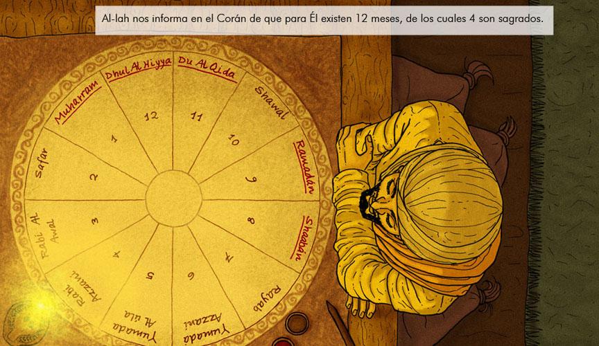 Calendario lunar. Vista cenital.